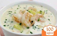 Фото рецепта: «Сырный суп с креветками»