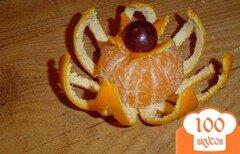 Фото рецепта: «Цветок из мандарина»