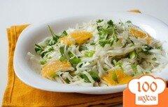 Фото рецепта: «Салат из капусты с апельсинами и зеленью»