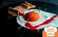 Фото рецепта: «Яичница с беконом на десерт»