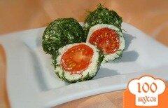 Фото рецепта: «Закусочные шарики из брынзы»