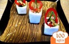 Фото рецепта: «Порционный салат в брюкве.»