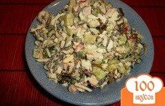 Фото рецепта: «Нежный салат с морской капустой»