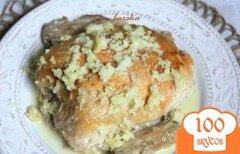Фото рецепта: «Шкмерули. Курица в чесночно-молочном соусе по-грузински.»