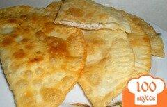 Фото рецепта: «Чебуреки с мясом на молоке и сыворотке»