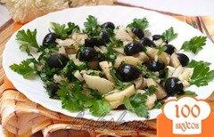 Фото рецепта: «Постный картофельный салат с оливками»