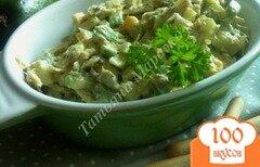 Фото рецепта: «Салат из авокадо с макрелью и сыром»