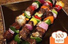 Фото рецепта: «Шашлык из говядины с овощами»