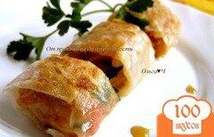 Фото рецепта: «Спринг-роллы с овощами, кус-кусом и зеленью»