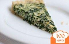 Фото рецепта: «Лоранский пирог со шпинатом»