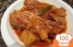 Фото рецепта: «Тушеная картошка с курицей»