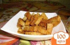 Фото рецепта: «Гренки с чесноком в духовке»