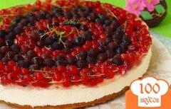 """Фото рецепта: «Смородиновый торт """"Красное и чёрное""""»"""