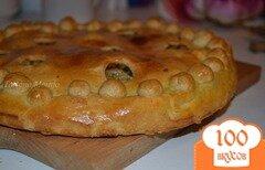 Фото рецепта: «Пирог с копченой курятиной, имбирем и ананасом»