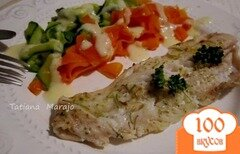 Фото рецепта: «Филе скумбрии с овощной пастой на пару»