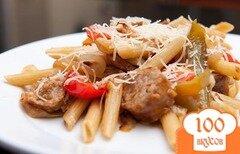 Фото рецепта: «Паста с сосисками и овощами»