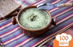 Фото рецепта: «Крем-суп из курицы и зелёного горошка»