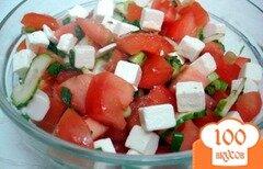 Фото рецепта: «Салат из помидоров и брынзы»