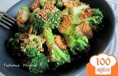 Фото рецепта: «Теплый салат с капустой брокколи»