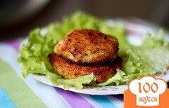 Фото рецепта: «Котлеты из курицы с сыром»