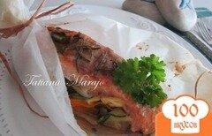 Фото рецепта: «Семга на овощной подушке»