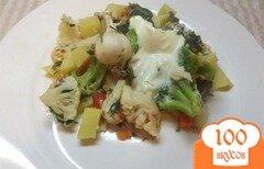 Фото рецепта: «Овощи запеченные с яйцом»