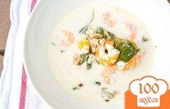 Фото рецепта: «Тайский кокосовый суп с креветками»