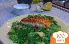 Фото рецепта: «Салат Цезарь с лососем»