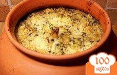 Фото рецепта: «Рис с грибами в горшочках»
