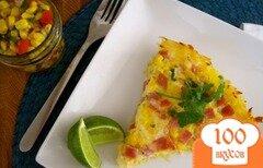 Фото рецепта: «Картофельный пирог с кукурузной сальсой»