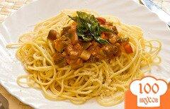 Фото рецепта: «Спагетти с цукини и баклажанами»