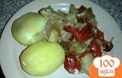 Фото рецепта: «Свинина с перцем запеченная в духовке»
