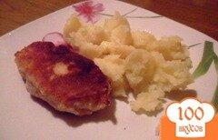 Фото рецепта: «Молочные куриные зразы с моцареллой и вялеными томатами»
