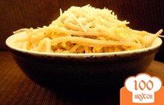 Фото рецепта: «Спагетти с сыром и яйцами»