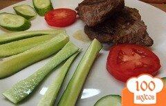 Фото рецепта: «Стейк из говядины без масла»