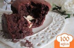 Фото рецепта: «Moeulleux двойной шоколад»
