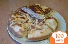 Фото рецепта: «Закрытый пирог с сыром на сковороде»