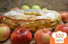 """Фото рецепта: «""""Перина из яблок""""»"""