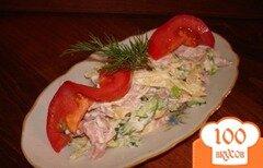 Фото рецепта: «Быстрый салат с колбасой без майонеза»
