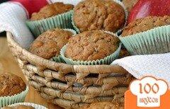 Фото рецепта: «Яблочные кексы с цуккини и орехами»