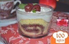 Фото рецепта: «Десерт с вишней»