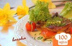 Фото рецепта: «Котлета на косточке с итальянским кармашком»