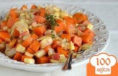 Фото рецепта: «Гарнир из запеченной тыквы и овощей»