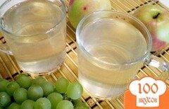 Фото рецепта: «Компот из яблок, винограда с мятой и эхинацеей»