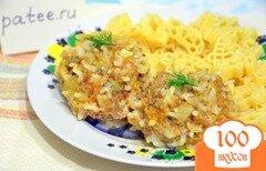 """Фото рецепта: «Мясные """"ёжики"""" с рисом и морковью»"""