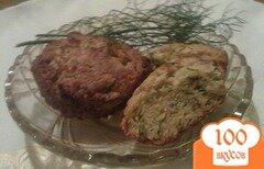 Фото рецепта: «Сырные кексы с укропом и тмином»