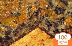 Фото рецепта: «Черничный кекс с овсяными хлопьями»