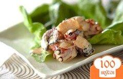 Фото рецепта: «Ножки осьминога под майонезным соусом»