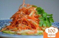 Фото рецепта: «Морковно-яблочный салат с креветками»