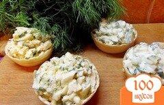 Фото рецепта: «Тарталетки с огурцом и яйцами»